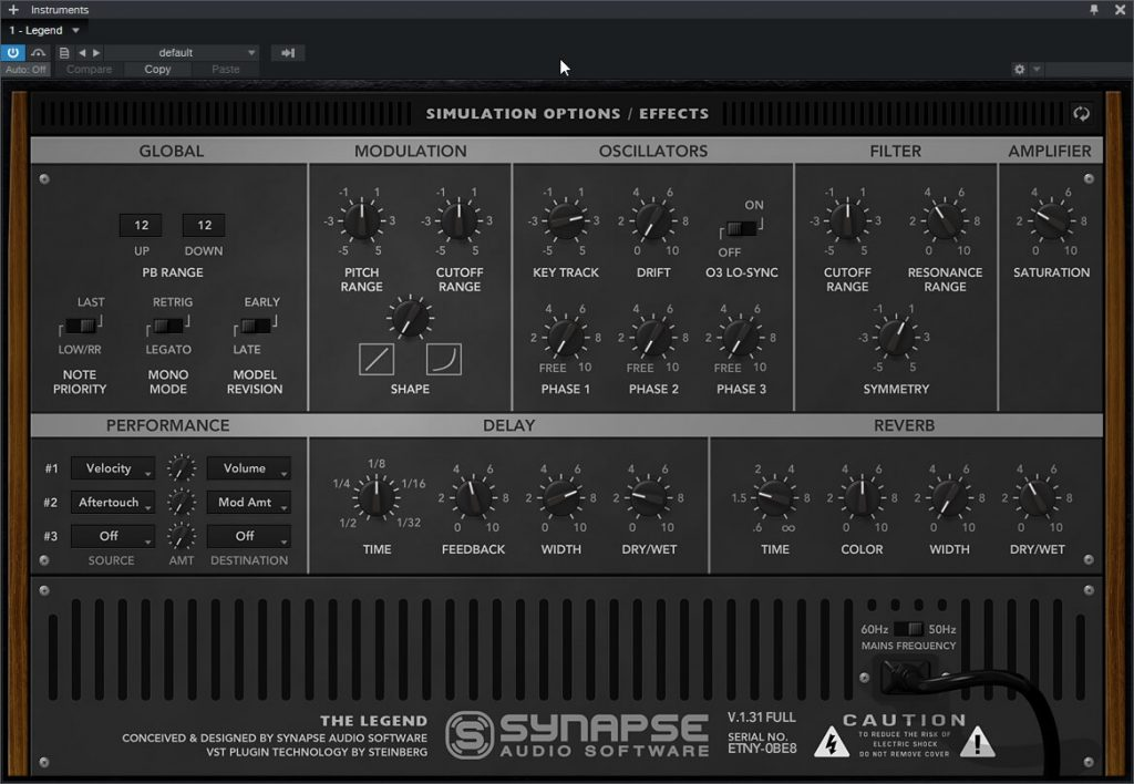 Synapse Audio – The Legend 1.3.1