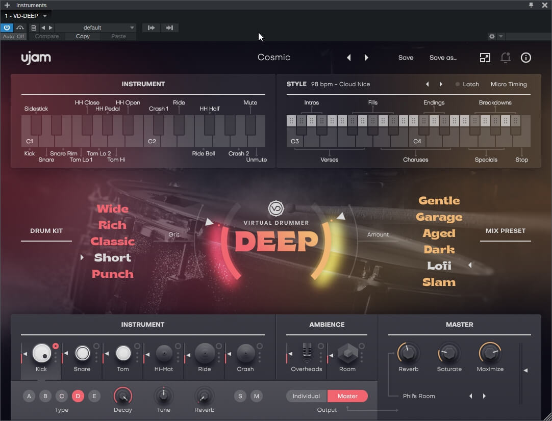 UJAM Virtual Drummer DEEP 2.1.1